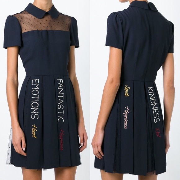 24be7a14ee3f1 Red Valentino embroidered dress